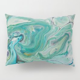 River Eddy - Abstract Acrylic Art by Fluid Nature Pillow Sham