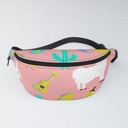 Fiesta Llama Pink by Cindy Rose Studio Fanny Pack