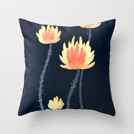 Fire Blossoms 04 Throw Pillow