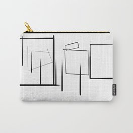 Minialist Black and White Carry-All Pouch