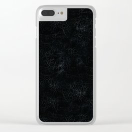 Black Crackling Leather-Look Clear iPhone Case