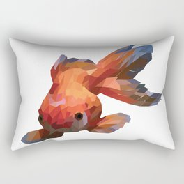 a three-tailed fish with attractive colors Rectangular Pillow