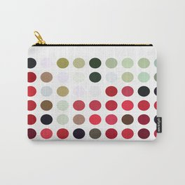 Mixed Color Poinsettias 2 Dots Carry-All Pouch