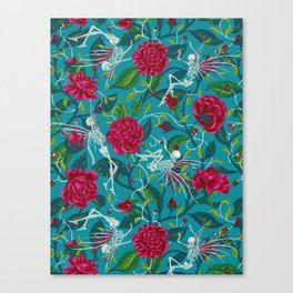 Death of Summer (carmine and blue) Canvas Print