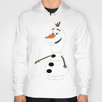 olaf Hoodies featuring Olaf by Dewdroplet