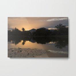 Sunset at Sukhothai Historical Park Metal Print