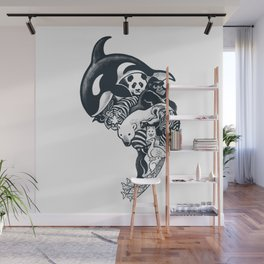 Monochromanimal Wall Mural