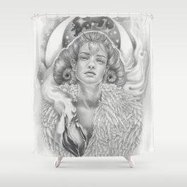 Aries New Moon Shower Curtain