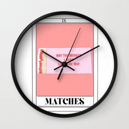 the matches tarot card Wall Clock