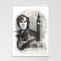 sherlock Stationery Cards featuring Sherlock  by RileyStark