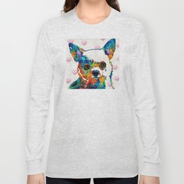 Colorful Chihuahua Art by Sharon Cummings Long Sleeve T-shirt