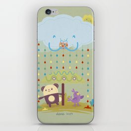color raindrops keep falling on my head iPhone Skin