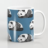 pandas Mugs featuring Pandas by Diana Hope