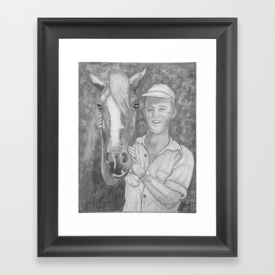 Paul And His Trusty Steed Framed Art Print