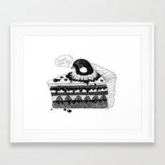 birdie baked in a pie Framed Art Print