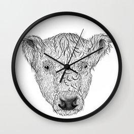 Galloway Cow Wall Clock