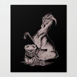 Dog Drool Canvas Print