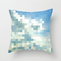 Pixel Clouds Throw Pillow