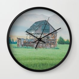 Fading Pieces Wall Clock