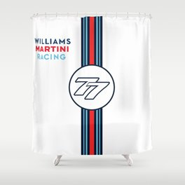 Williams F1 Martini Racing Valteri Bottas Shower Curtain