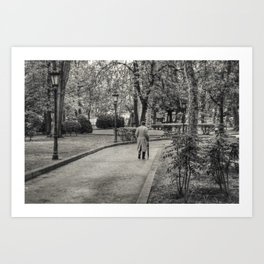 The man in the park Art Print