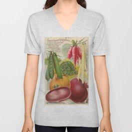 Vintage poster - Seven Grand Vegetables Unisex V-Neck