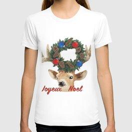 Joyeux noel - French Merry Christmas deer T-shirt