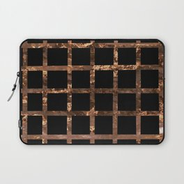 Copper Black Squares Laptop Sleeve