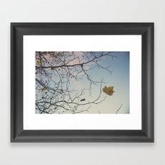 October sky Framed Art Print