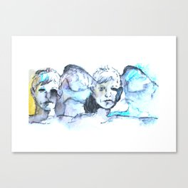 Faces in Blue Canvas Print