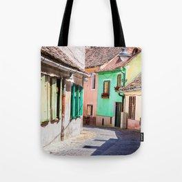 Multi Coloured Cottages Tote Bag