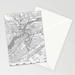 Ottawa Map Line Stationery Cards