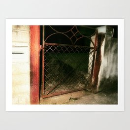 red gate land Art Print