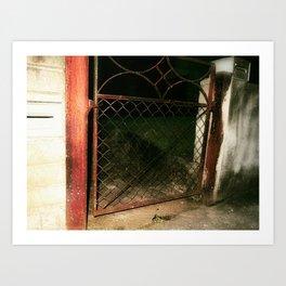 red gate land Art Print