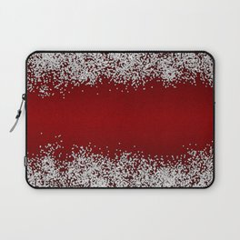 Shiny Red Texture With Silver Sparkles Laptop Sleeve