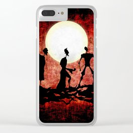 The Tale of the Three Brothers Clear iPhone Case
