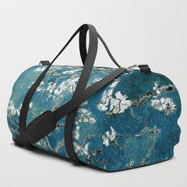 Van Gogh Almond Blossoms : Dark Teal Duffle Bag