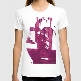 Cranberry brushstroke [1]: a bold, simple, abstract piece in purple T-shirt