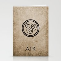 airbender Stationery Cards featuring Avatar Last Airbender - Air by bdubzgear
