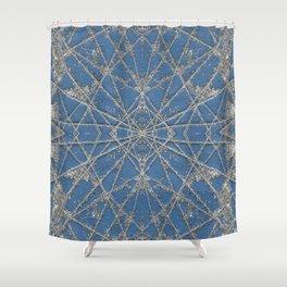 Snowflake Blue Shower Curtain