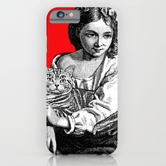 Young Girl with Cat iPhone & iPod Case