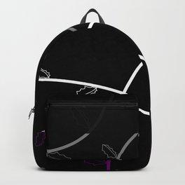Jagged leaves, asexual pride flag Backpack