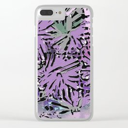 The Garden in Shades of Purple and Pink Clear iPhone Case