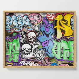 Graffiti is art. Serving Tray