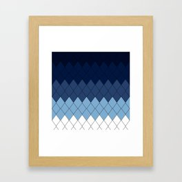 Blue rombs Framed Art Print