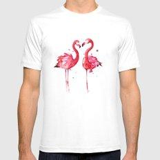 Flamingo Mens Fitted Tee MEDIUM White