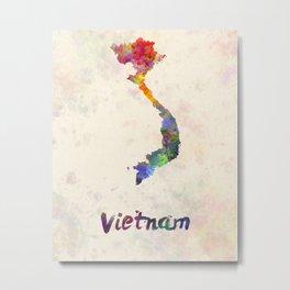 Vietnam in watercolor Metal Print