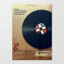 Punk Quotes Poster Serie / Henry Rollins Said : KKK Canvas Print
