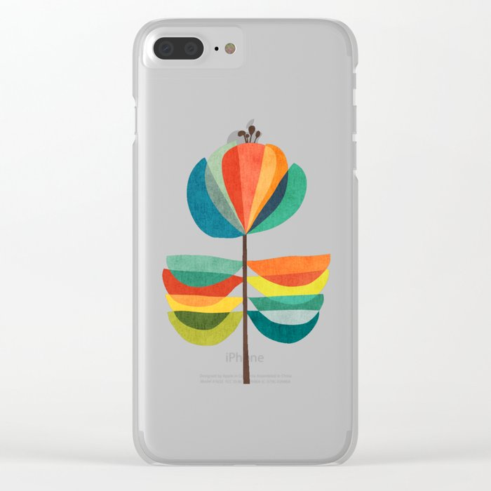 Whimsical Bloom Clear iPhone Case