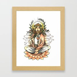 Spiritual man Framed Art Print